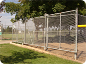 Security Fencing With Gate