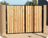 Decorative Custom Wood Gate