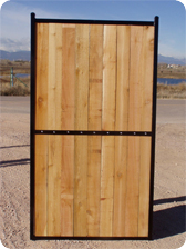 Steel Framed Wood Gate