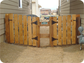 Wooden Gate Installed