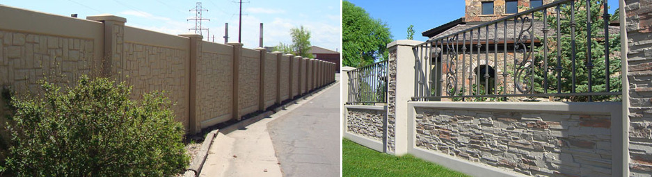 Custom Fence Colorado Concrete Fence Wood Fence Vinyl Fence